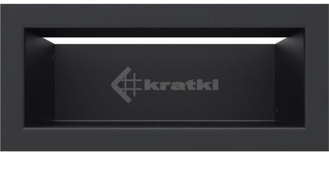 Решетка для камина Kratki Luft 45S 9x20 черная