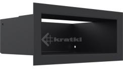 Решетка для камина Kratki Luft 45S 9x20 черная. Фото 3