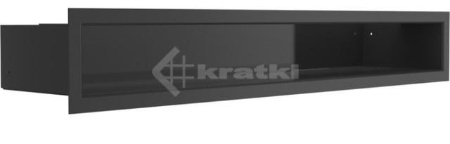 Решетка для камина Kratki Luft 45S 9x60 черная. Фото 2