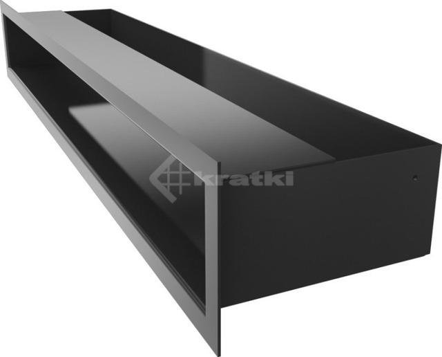 Решетка для камина Kratki Luft 45S 9x60 черная. Фото 3
