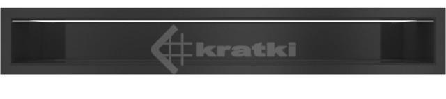 Решетка для камина Kratki Luft 45S 9x60 черная