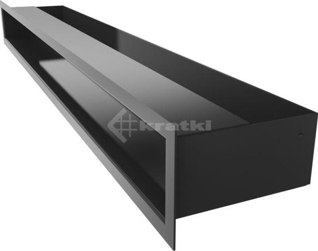 Решетка для камина Kratki Luft 45S 9x80 черная. Фото 3