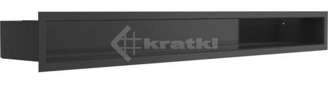 Решетка для камина Kratki Luft 45S 9x80 черная. Фото 2