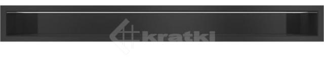 Решетка для камина Kratki Luft 45S 9x80 черная