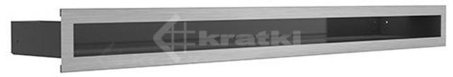 Решетка для камина Kratki Luft 45S 9x40 шлифованная. Фото 2
