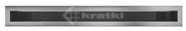 Решетка для камина Kratki Luft 45S 9x40 шлифованная