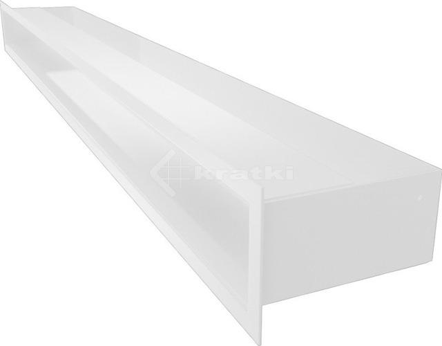 Решетка для камина Kratki Luft 45SF 9x100 белая. Фото 3
