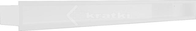 Решетка для камина Kratki Luft 45SF 9x100 белая. Фото 2