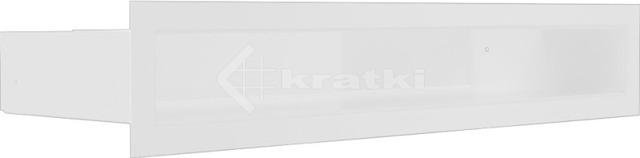 Решетка для камина Kratki Luft 45SF 6x40 белая. Фото 2