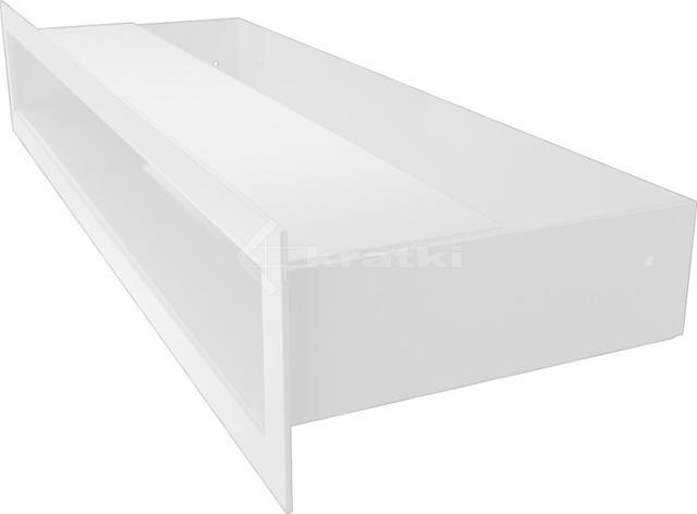 Решетка для камина Kratki Luft 45SF 6x40 белая. Фото 3