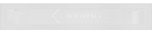 Решетка для камина Kratki Luft 45SF 6x40 белая