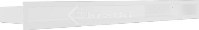 Решетка для камина Kratki Luft 45SF 6x80 белая. Фото 2