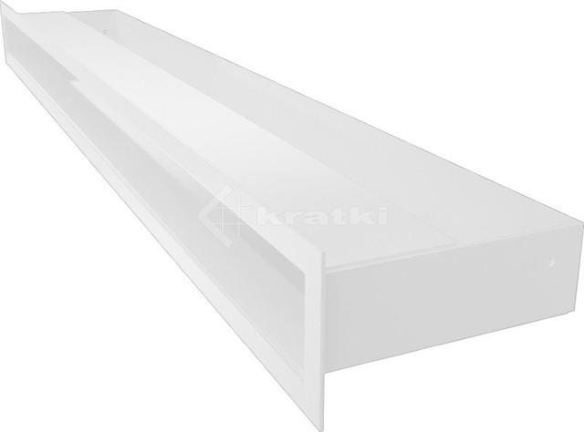 Решетка для камина Kratki Luft 45SF 6x80 белая. Фото 3