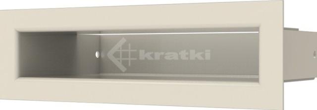 Решетка для камина Kratki Luft 45SF 6x20 кремовая. Фото 2