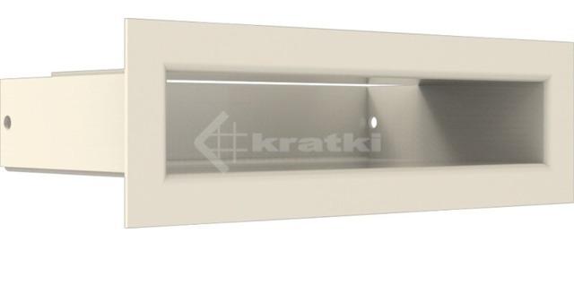 Решетка для камина Kratki Luft 45SF 6x20 кремовая. Фото 3