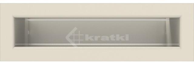 Решетка для камина Kratki Luft 45SF 6x20 кремовая