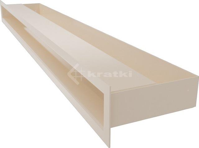 Решетка для камина Kratki Luft 45SF 6x80 кремовая. Фото 3