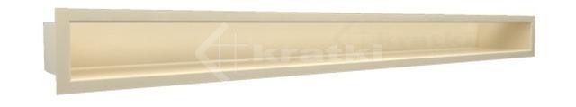 Решетка для камина Kratki Luft 45SF 6x80 кремовая. Фото 2
