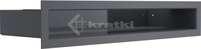Решетка для камина Kratki Luft 45SF 6x40 графитовая. Фото 2
