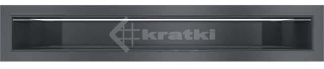 Решетка для камина Kratki Luft 45SF 6x40 графитовая