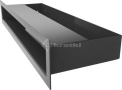Решетка для камина Kratki Luft 45SF 6x40 графитовая. Фото 3