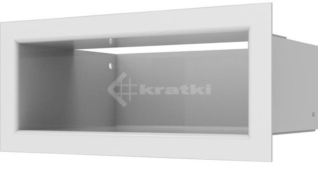 Решетка для камина Kratki Luft 45SF 9x20 белая. Фото 3