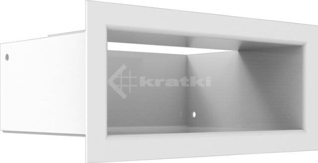 Решетка для камина Kratki Luft 45SF 9x20 белая. Фото 2