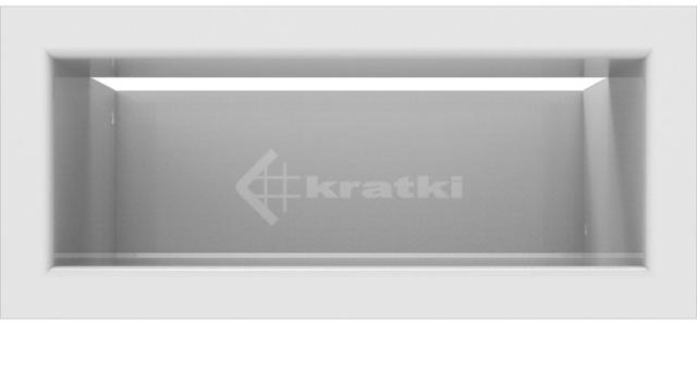 Решетка для камина Kratki Luft 45SF 9x20 белая