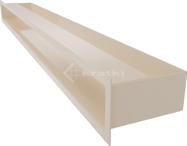 Решетка для камина Kratki Luft 45SF 9x100 кремовая. Фото 3
