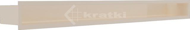 Решетка для камина Kratki Luft 45SF 9x100 кремовая. Фото 2