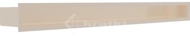 Решетка для камина Kratki Luft 45SF 9x40 кремовая. Фото 2