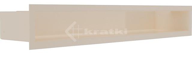 Решетка для камина Kratki Luft 45SF 9x60 кремовая. Фото 2