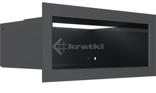 Решетка для камина Kratki Luft 45SF 9x20 графитовая. Фото 3