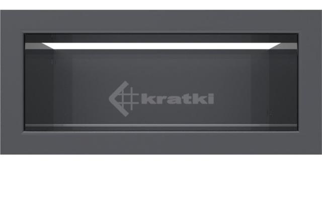 Решетка для камина Kratki Luft 45SF 9x20 графитовая