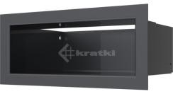 Решетка для камина Kratki Luft 45SF 9x20 графитовая. Фото 2