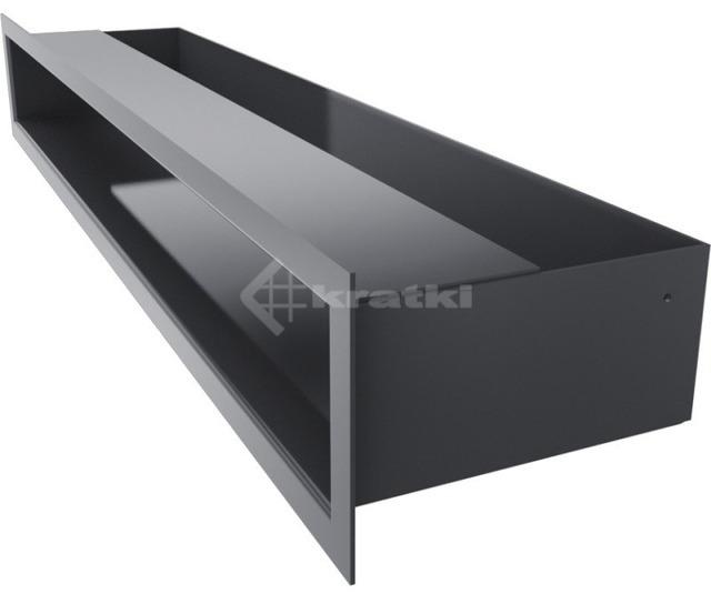 Решетка для камина Kratki Luft 45SF 9x60 графитовая. Фото 3