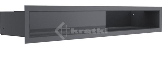 Решетка для камина Kratki Luft 45SF 9x60 графитовая. Фото 2