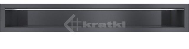Решетка для камина Kratki Luft 45SF 9x60 графитовая