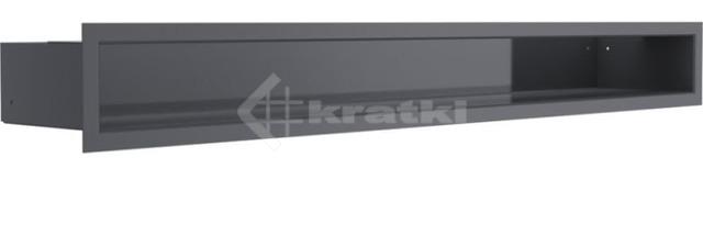Решетка для камина Kratki Luft 45SF 9x80 графитовая. Фото 2