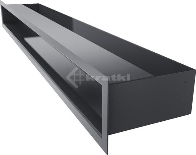 Решетка для камина Kratki Luft 45SF 9x80 графитовая. Фото 3