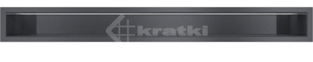 Решетка для камина Kratki Luft 45SF 9x80 графитовая