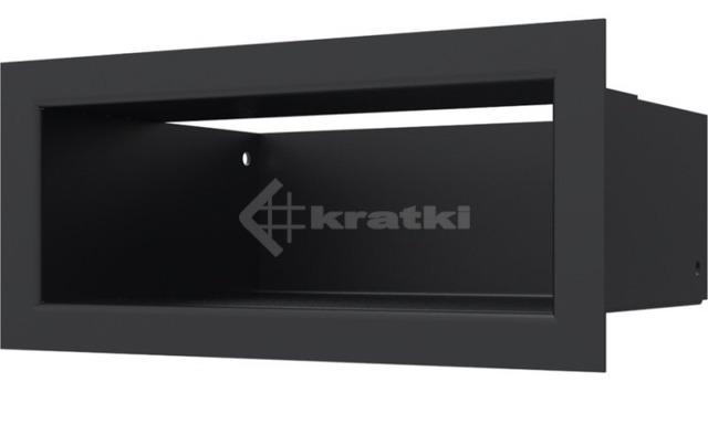 Решетка для камина Kratki Luft 45SF 9x20 черная. Фото 2