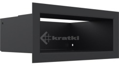 Решетка для камина Kratki Luft 45SF 9x20 черная. Фото 3