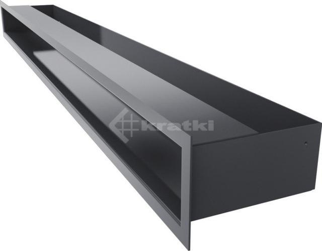 Решетка для камина Kratki Luft 45SF 9x40 черная. Фото 3