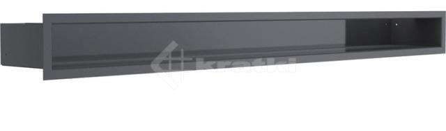 Решетка для камина Kratki Luft 45SF 9x40 черная. Фото 2