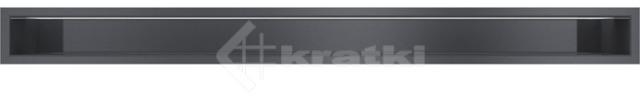Решетка для камина Kratki Luft 45SF 9x40 черная