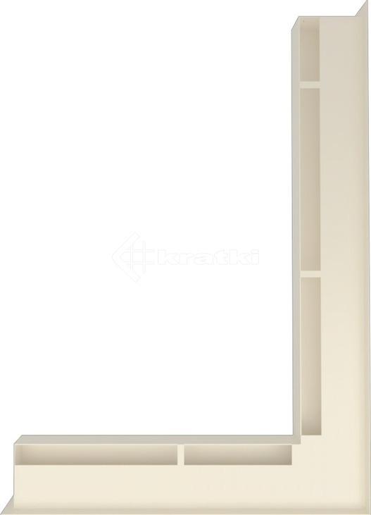 Решетка для камина Kratki Luft 45S NP 54,7x76,6x6 кремовая (LUFT/NP/60/45S/K). Фото 3