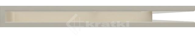 Решетка для камина Kratki Luft 45S NP 54,7x76,6x6 кремовая (LUFT/NP/60/45S/K). Фото 2