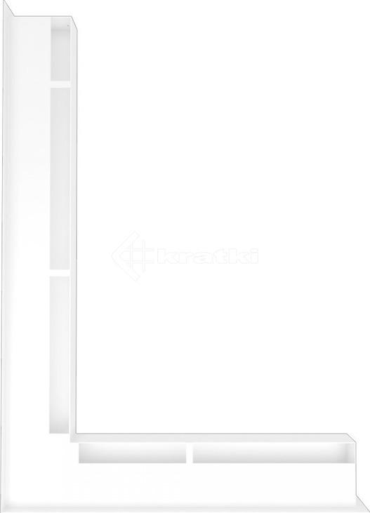 Решетка для камина Kratki Luft 45S NL 76,6x54,7x6 белая (LUFT/NL/60/45S/B). Фото 3