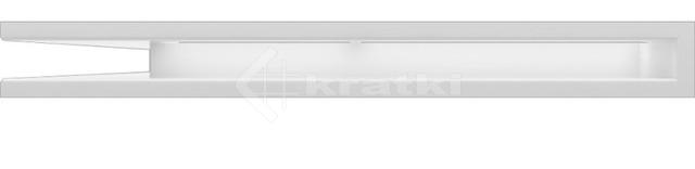 Решетка для камина Kratki Luft 45S NL 76,6x54,7x6 белая (LUFT/NL/60/45S/B). Фото 2